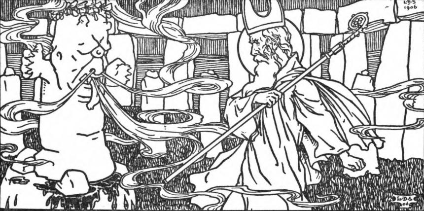 image of st. patrick and pagan god