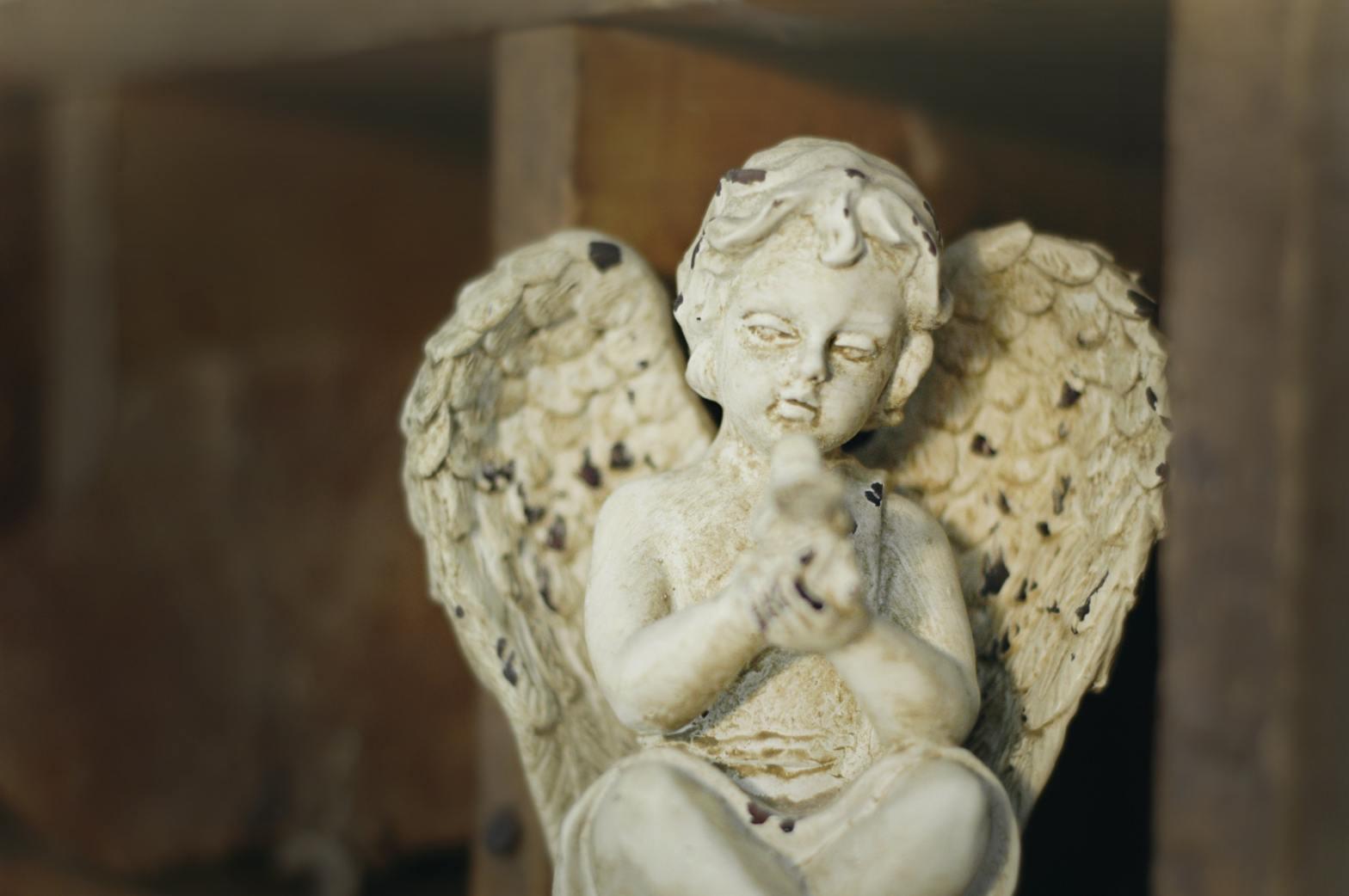 photo of cherub statue