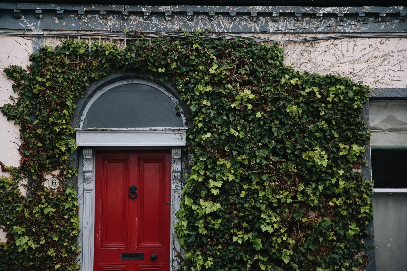 photo of red door in Dublin