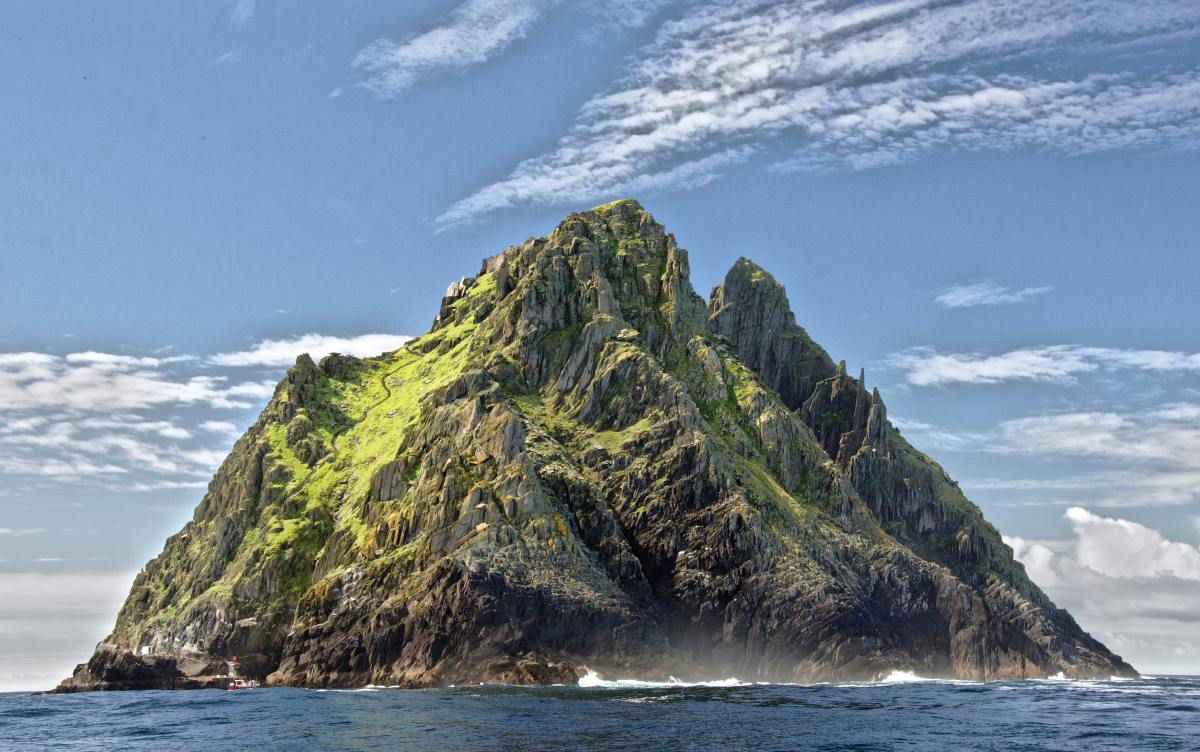 photo of Skellig Michael off the Irish coast