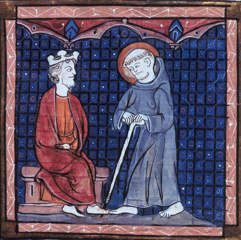 image of st. patrick in blue cassock
