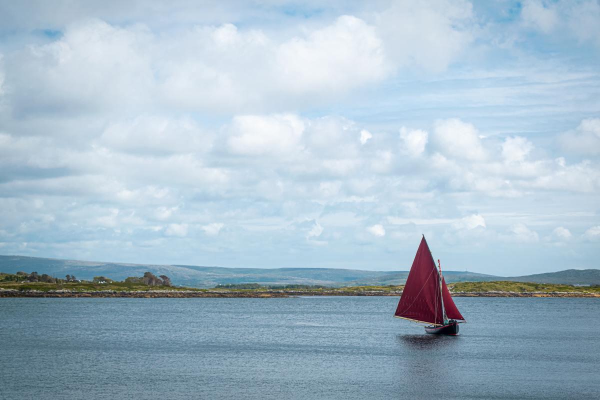 photo of Irish sailboat at sea
