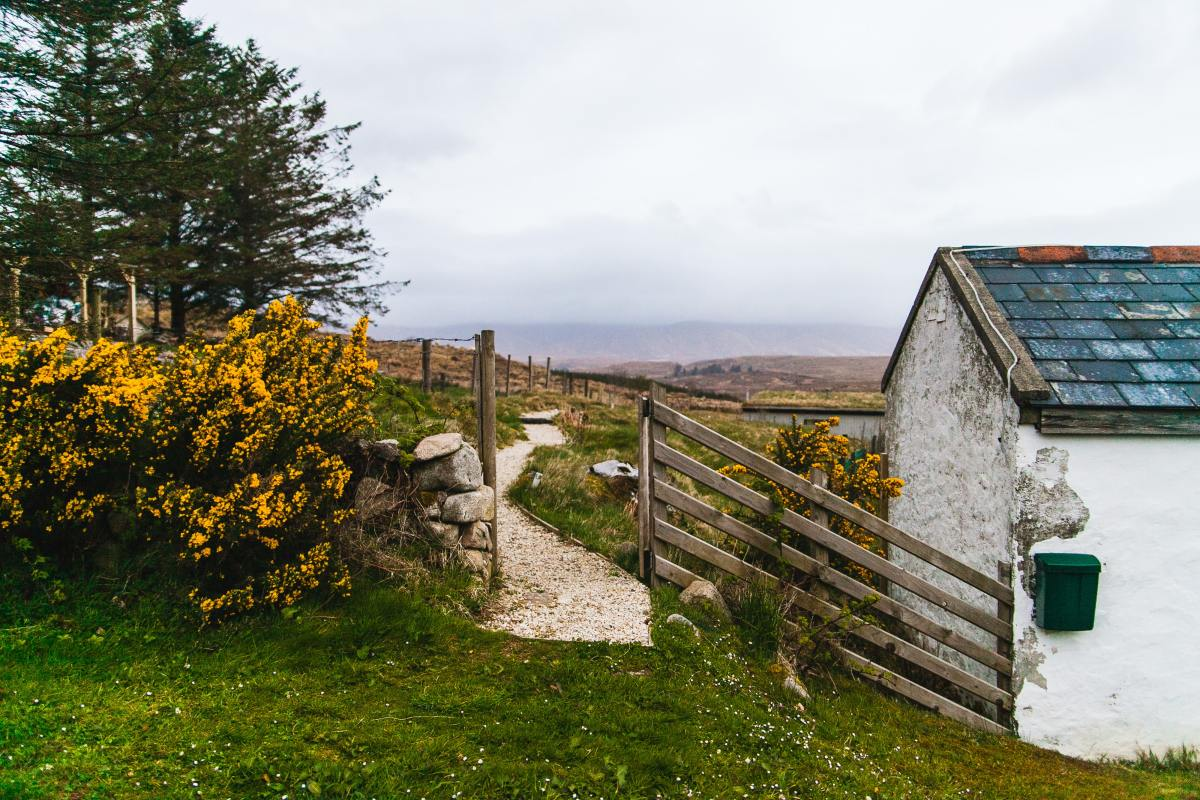photo of a cottage in the Irish countryside