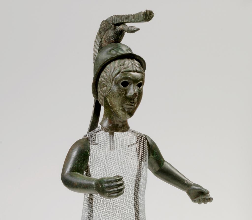 photo of a bronze statue of the Irish goddess Brigid