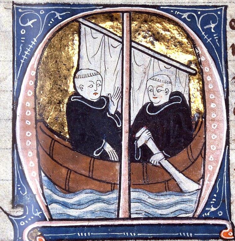 an illustration of St. Brendan the Navigator, dating back to 1304