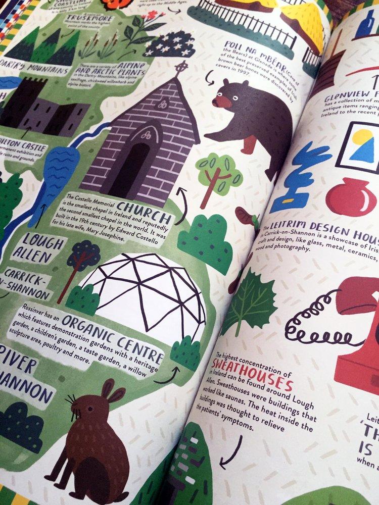 photo showing the inside of the book Irelandopedia