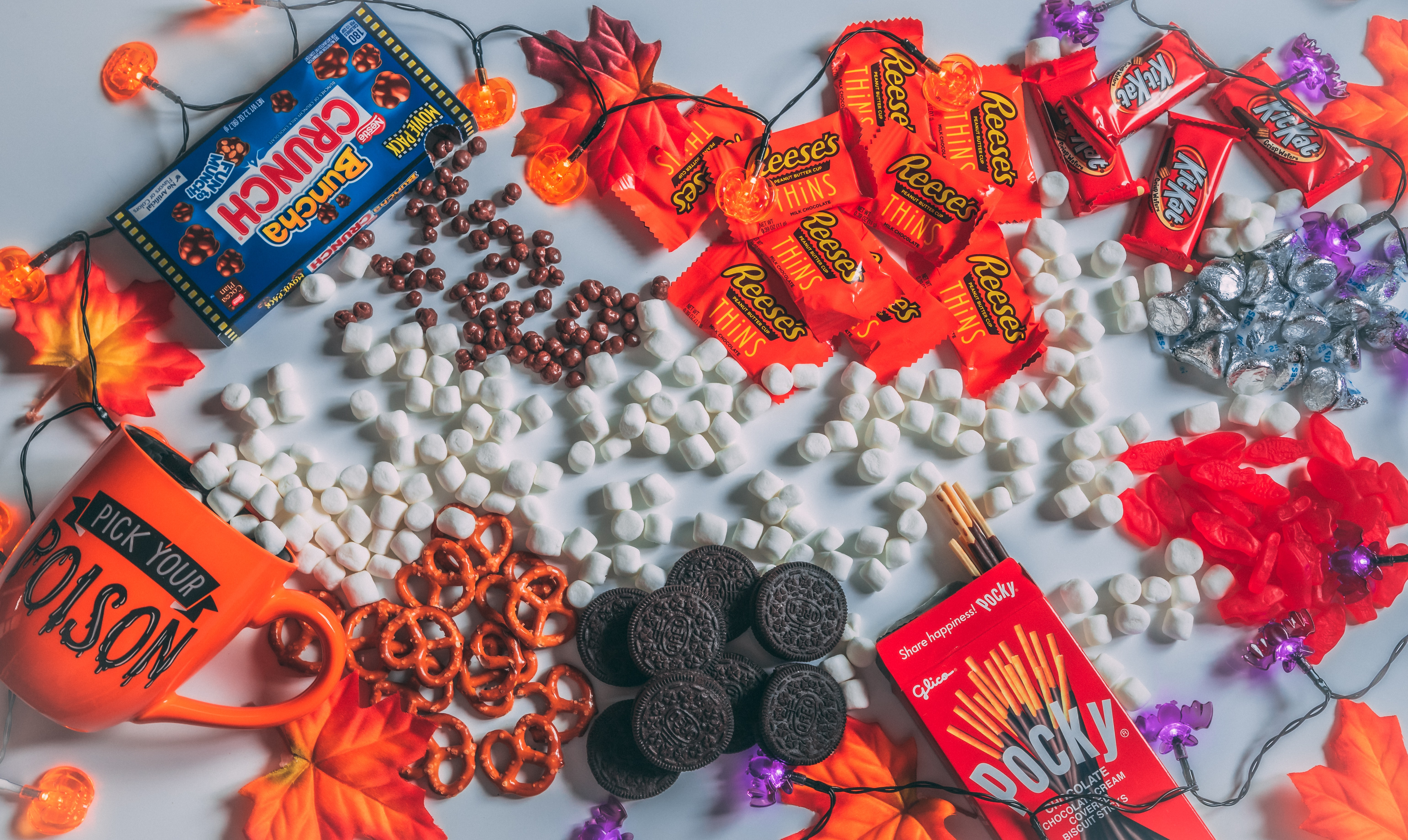 photo of a pile of halloween candy